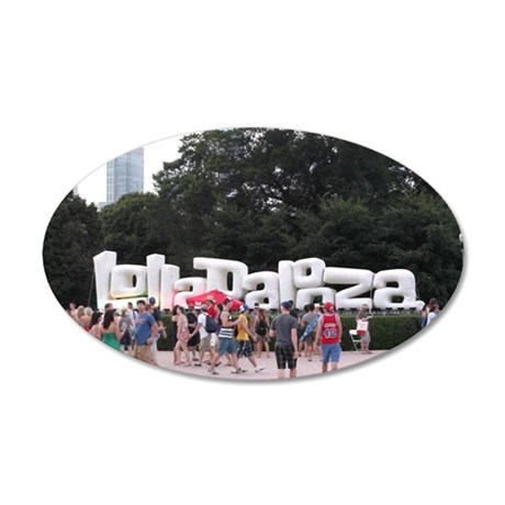 Lolla-sign 35x21 Oval Wall Decal