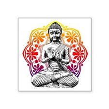 "buddha Square Sticker 3"" x 3"""