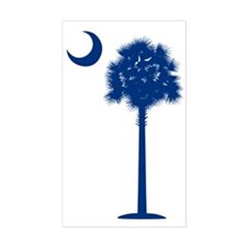 palmetto blue transparent Decal
