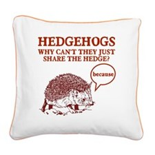 bbbrbrvedge Square Canvas Pillow