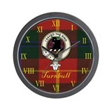 Turnbull Clan Crest / Tartan Wall Clock