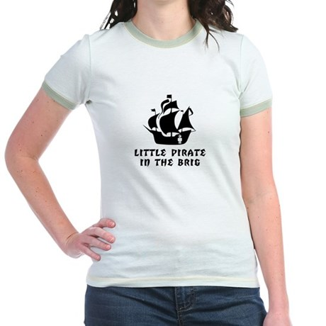 Little Pirate in the Brig Jr. Ringer T-Shirt