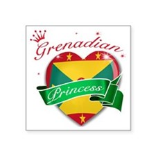"grenada Square Sticker 3"" x 3"""