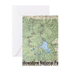 YNP_topographical_map_and_guide Greeting Card