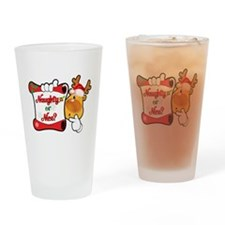 Naughtly or Nice Reindeer Drinking Glass