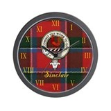 Sinclair Clan Crest / Tartan Wall Clock