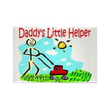 Daddy's Little Helper Rectangle Magnet