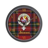 Stewart Clan Crest / Tartan Wall Clock