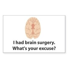 I had brain surgery. What's Sticker (Rectangular