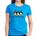 Burning Stare Penguins Women's Dark T-Shirt