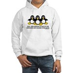 Burning Stare Penguins Hooded Sweatshirt