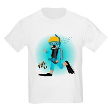 Scuba Boy (blonde) Kids T-Shirt