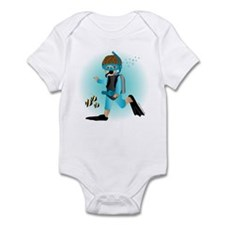 Scuba Boy (brunette) Infant Bodysuit