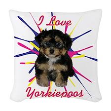 iloveyorkiepoos Woven Throw Pillow