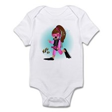 Scuba Girl (brunette) Infant Bodysuit