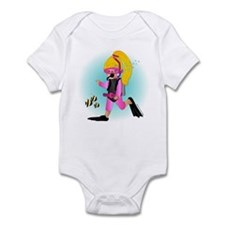 Scuba Girl (blonde) Infant Bodysuit