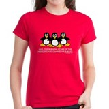 Burning Stare Penguins Tee