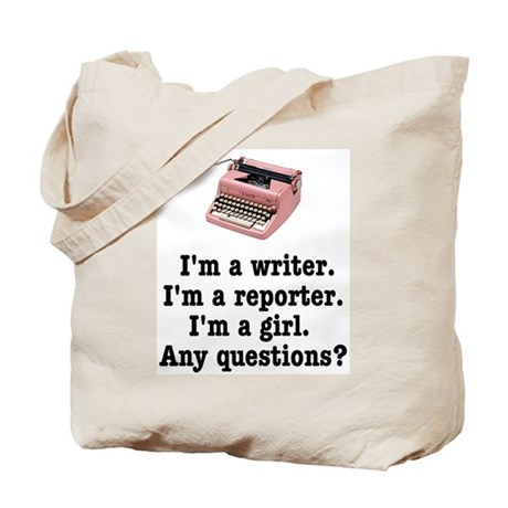 Pink Typewriter Tote Bag