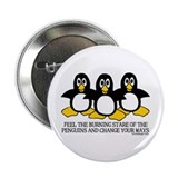 Burning Stare Penguins 2.25&quot; Button (100 pack)