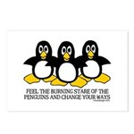 Burning Stare Penguins Postcards (Package of 8)