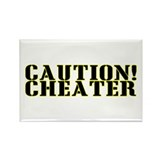 Caution! Cheater Rectangle Magnet (10 pack)