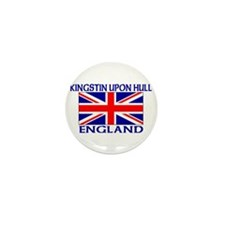 Funny Hull england Mini Button