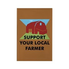 Support Your Local Farmer Rectangle Magnet (10 pac