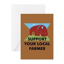 Support Your Local Farmer Greeting Cards (Package