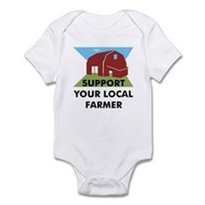 Support Your Local Farmer Infant Bodysuit