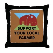 Support Your Local Farmer Throw Pillow