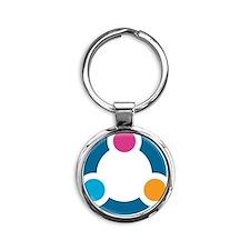 Eden II Design Round Keychain
