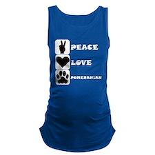 Peace Love Pomeranian Maternity Tank Top