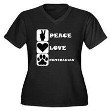 Peace Love Pomeranian Plus Size T-Shirt