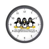 Penguin cartoon Basic Clocks