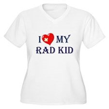 I Love My RAD Kid Plus Size T-Shirt