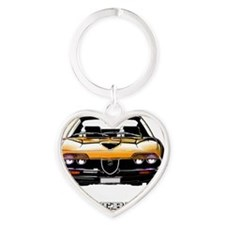Montreal_Orange_cafepress Heart Keychain