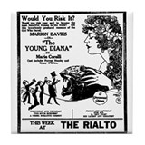 Marion Davies The Young Diana Tile Coaster