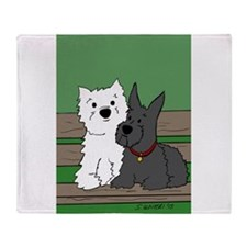Westie and Scottie Throw Blanket