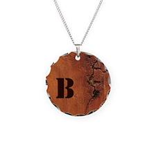 Custom Initial Woodgrain Look Necklace