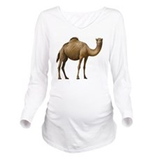 Camel Long Sleeve Maternity T-Shirt