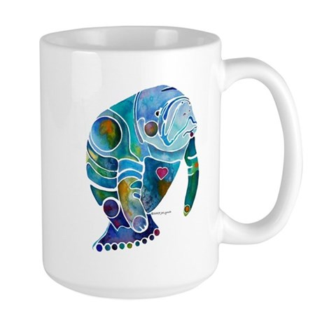Manatees Endangered Species Large Mug