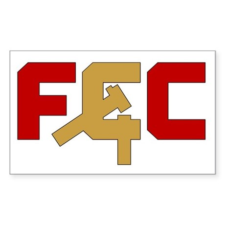 "The ""FCC"" Rectangle Sticker"