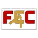 "The ""FCC"" Rectangle Sticker"