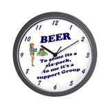 BEER To some its a 6 pack, to me it's a Wall Clock