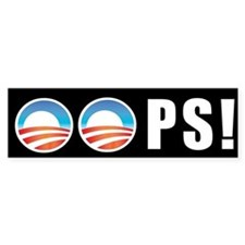 Obama OOPS! Bumper Bumper Sticker