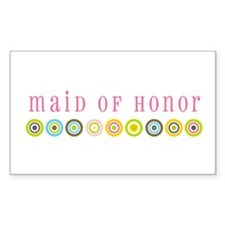 Retro Maid of Honor Rectangle Decal