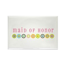 Retro Maid of Honor Rectangle Magnet
