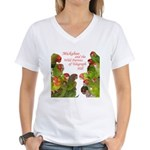 Wild Parrots Women's V-Neck T-Shirt
