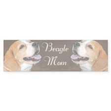 Beagle Dog Mom  Bumper Sticker