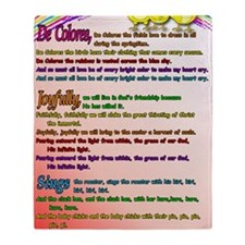 Cursillo DeColores Song Poster Throw Blanket